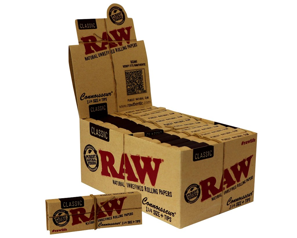 Raw Classic Connoisseur - 1 1/4 Size + Tips