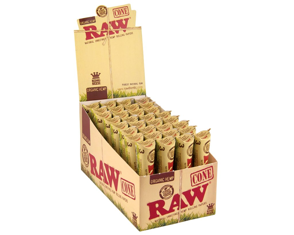 Raw Organic Pre-Rolled Cones King Size - 3-pack