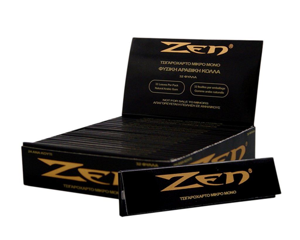 Zen Papers Black King Size Slim