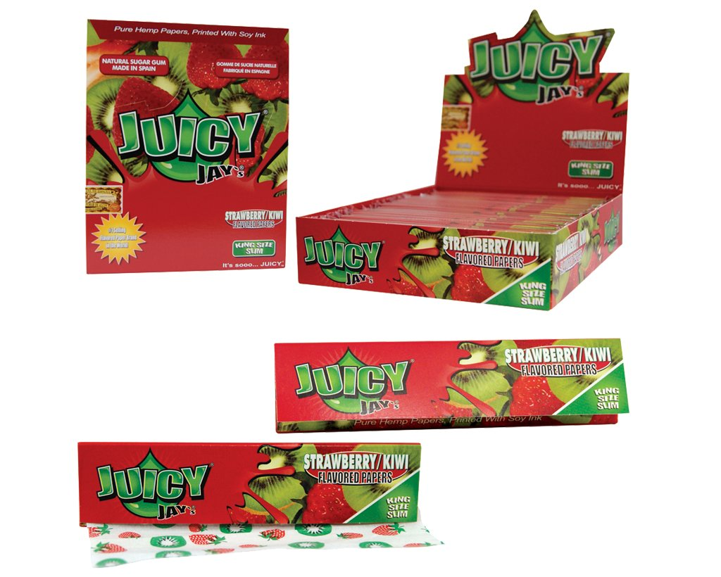 Juicy Jay´s King Size Slim Strawberry-Kiwi (Erdbeer-Kiwi)