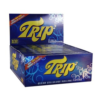 Trip 2 Clear Zellulose Papers King Size