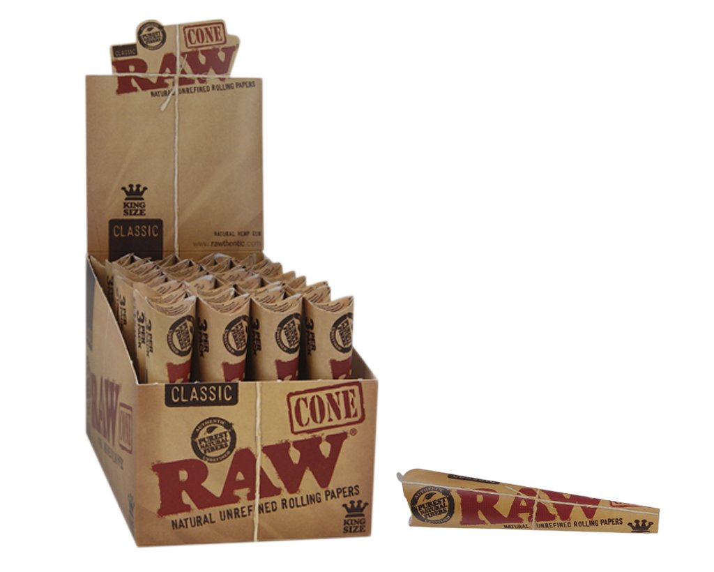 Raw Pre-Rolled Cones King Size - 3-pack
