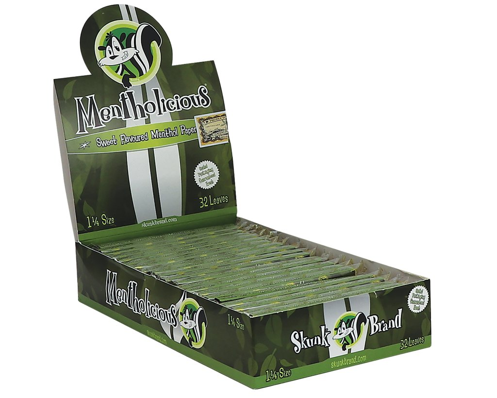 Skunk Brand Papers 1 1/4 Size - Menthol Skunk