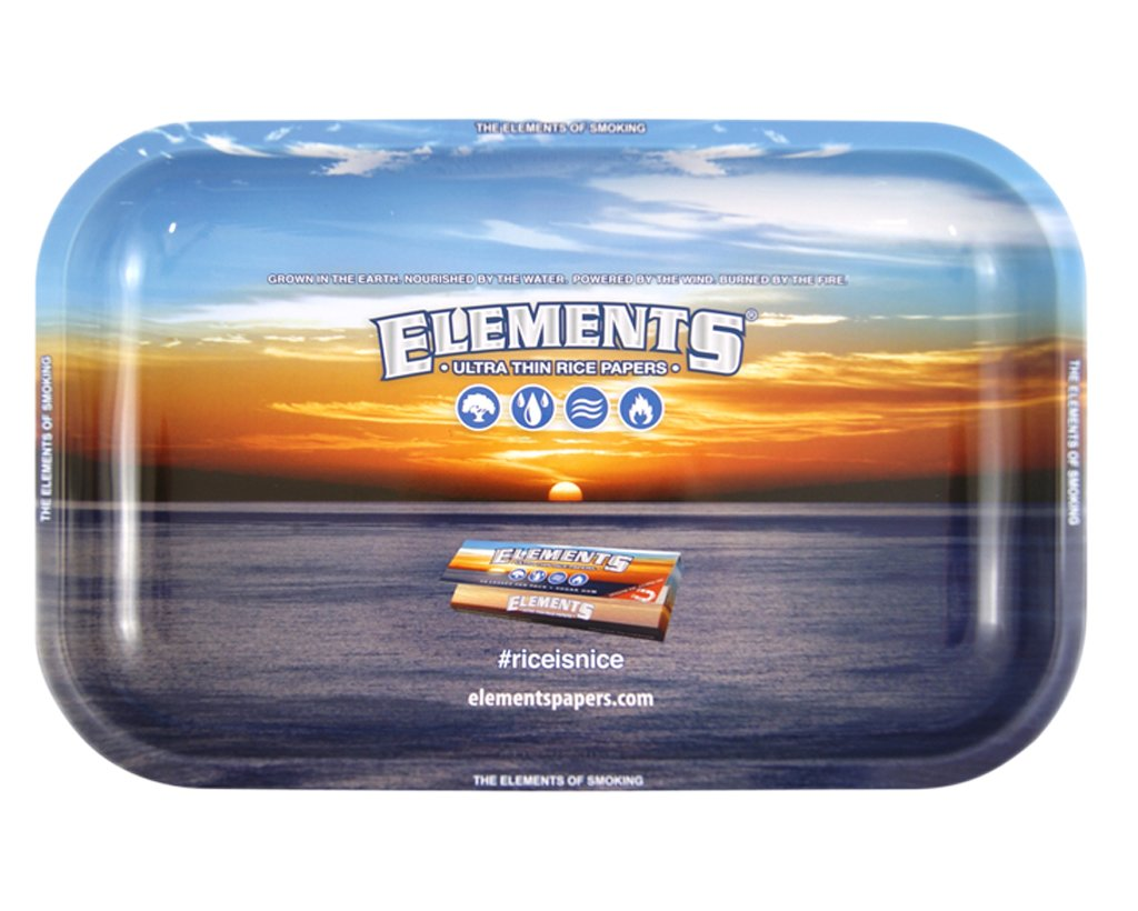 Elements Blue Drehtablett Small 27,5 x 17,5cm