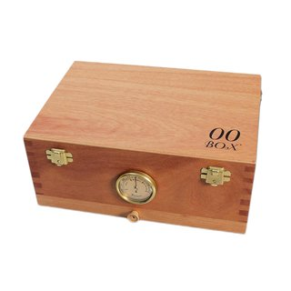 00 Box Humidor with Hygrometer & Screen