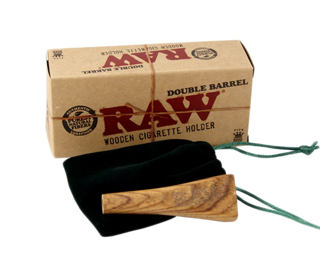 Raw Double Wooden Cigarette Holder King Size