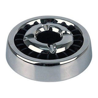 Ashtray with extinguisher insert - chrome