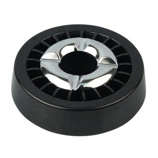 Ashtray with extinguisher insert - black