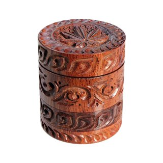 Rosewood/Alu Grinder 4-part Leaf 50mm
