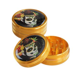 Black Leaf Alu Grinder Mexican Skull 50mm