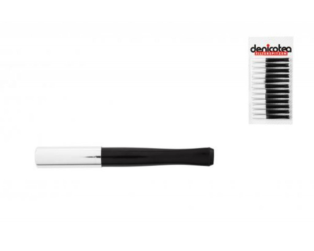 Denicotea Cigarette Holder black/chrome with ejector