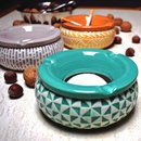 Windproof Ashtray ceramic Pattern 15cm - different Colours