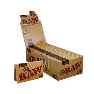Raw Classic Papers Regular Double Window - 5 booklets