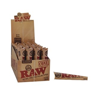 Raw Pre-Rolled Cones 1 1/4 Size - 16 packages