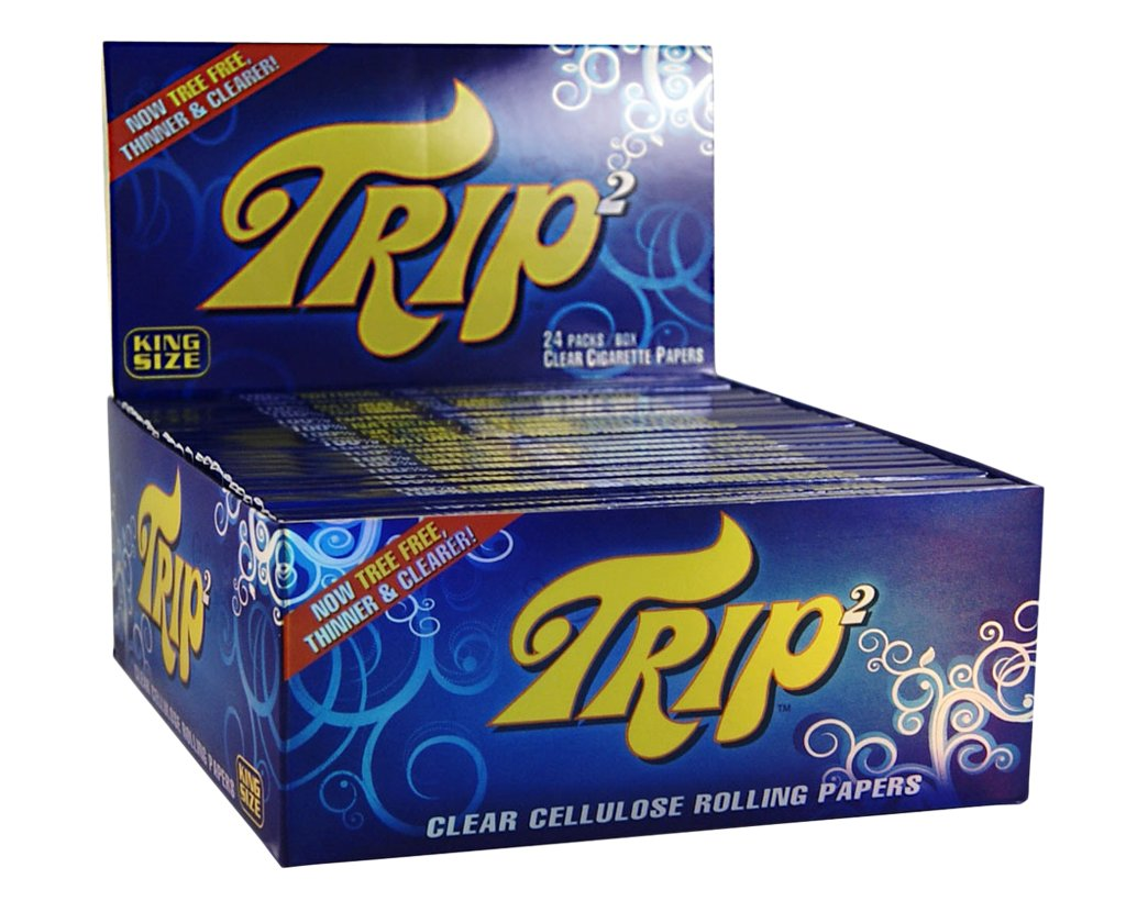 Trip 2 Clear Zellulose Papers King Size - 12 Heftchen