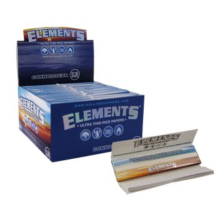 Elements Connoisseur King Size Slim + Tips - 12 Heftchen