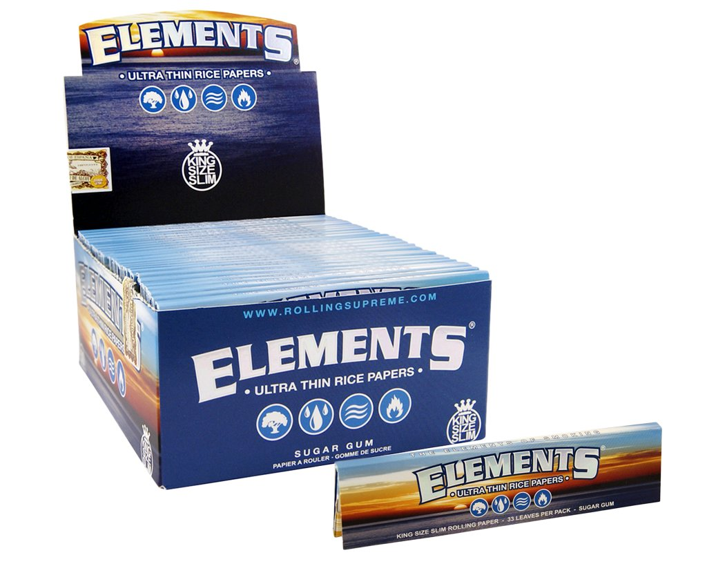 Elements Papers King Size Slim - 25 Heftchen