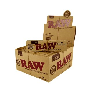 Raw Classic Connoisseur King Size Slim + Tips - 12 Heftchen