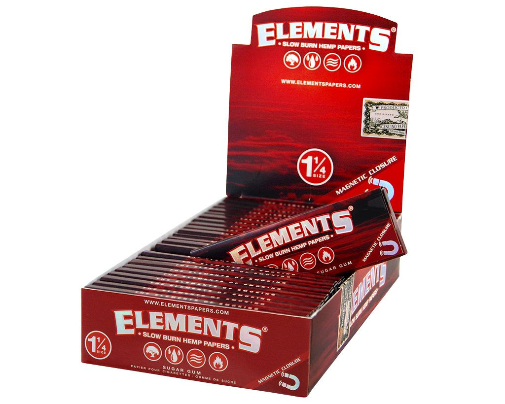 Elements Red Papers 1 1/4 - 10 Heftchen