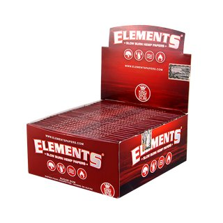 Elements Red Papers King Size Slim - 25 Heftchen