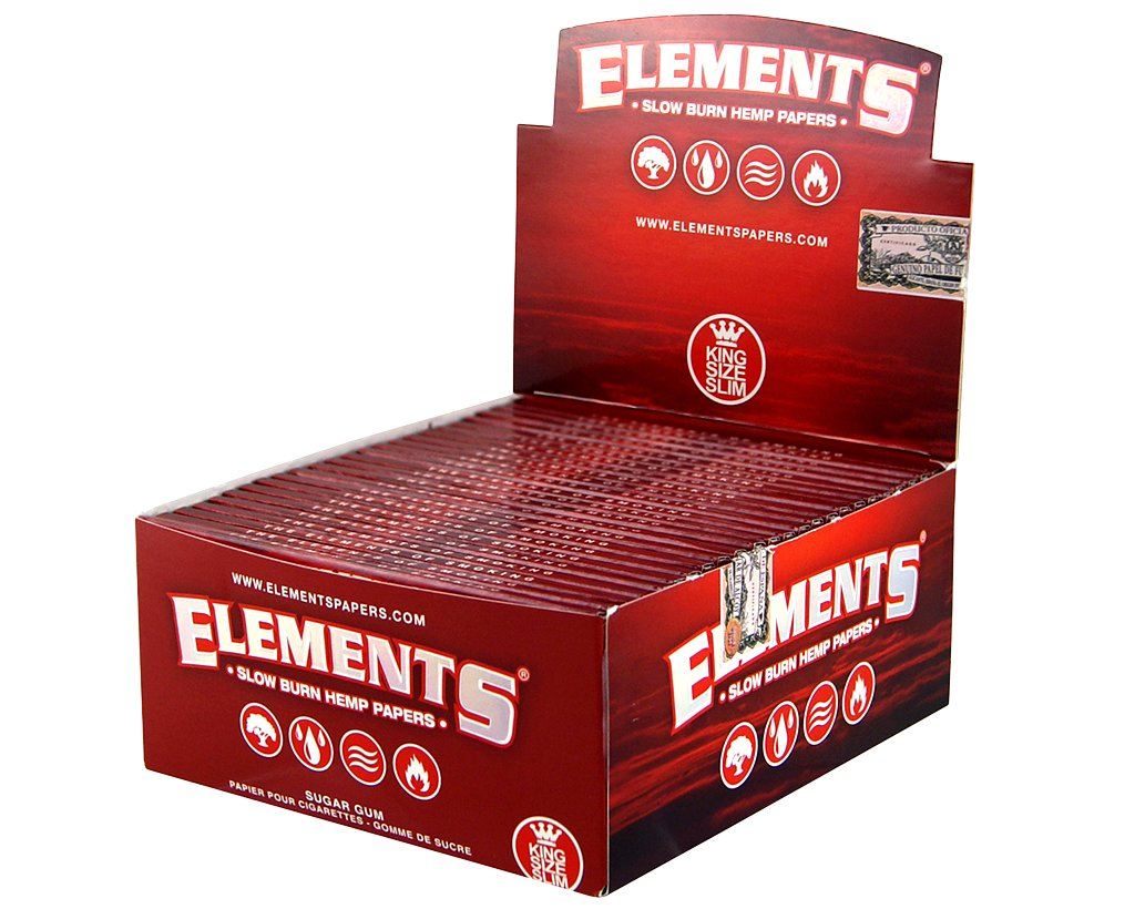 Elements Red Papers King Size Slim - 2 Boxen