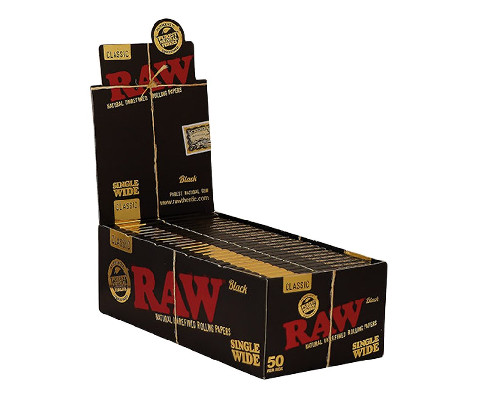 Raw Black Classic Papers Regular 100er - 1 Box
