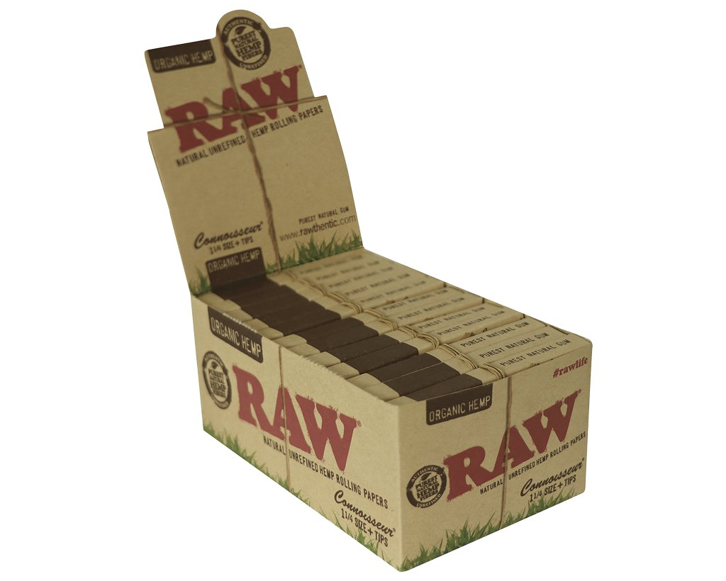 Raw Organic Connoisseur 1 1/4 + Tips