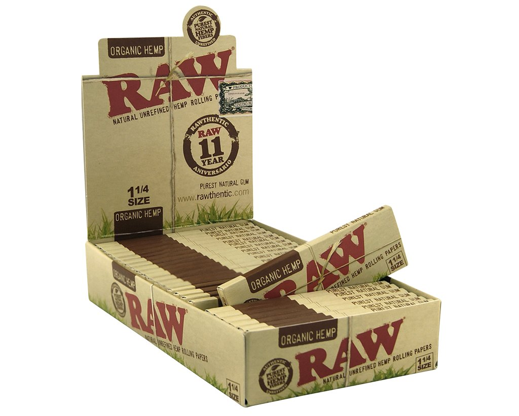 Raw Organic Papers 1 1/4 - 12 Heftchen
