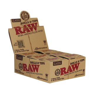 Raw Masterpiece Classic Rolls King Size - 6 packages