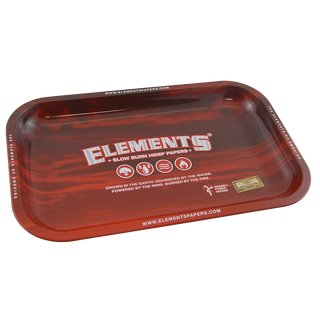 Elements Red Metall Drehtablett Small 27,5 x 17,5cm