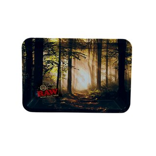 Raw Metall Drehtablett Forest Mini 18 x 12,5cm