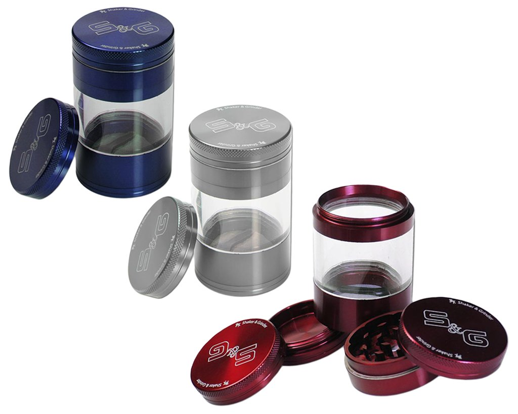S&G Alu Grinder mit Shaker 56mm - Farbauswahl