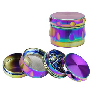 Crown Alu Grinder 4-part Rainbow 55mm